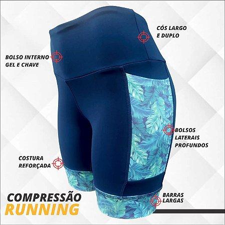 BERMUDA DE COMPRESSÃO RUNFOR - AZUL MARINHO