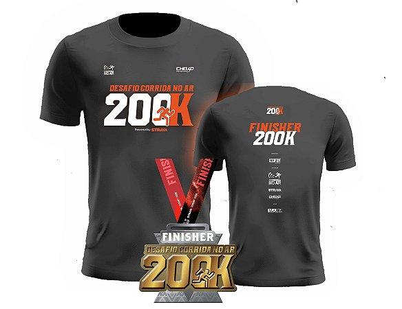 KIT 1 - MEDALHA + CAMISETA - DESAFIO 200K