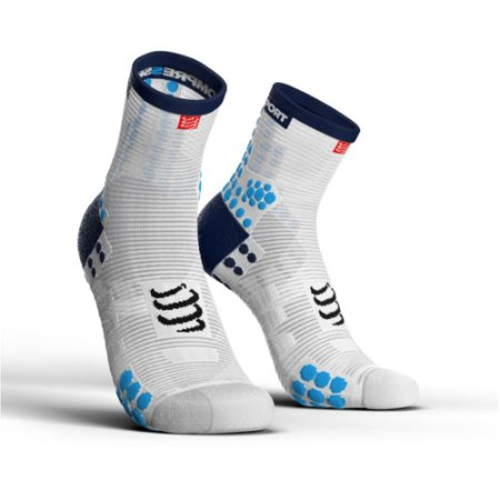 MEIA COMPRESSPORT RUN - BRANCA E AZUL
