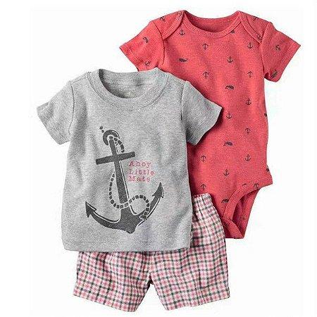 Carter s Conjunto 3 peças Marinheiro - Bebê Importador - Bebê Importador 7e77683049957