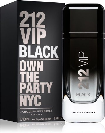Perfume 212 Vip Black 100ml Carolina Herrera Eau de Parfum Masculino
