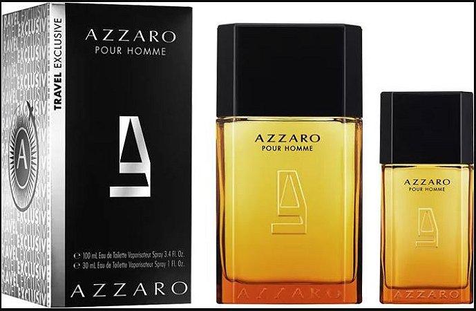Perfume Azzaro Pour Homme 100ml + Perfume 30ml Azzaro Eau de Toilette Masculino