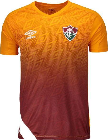 Camisa Fluminense Treino Laranja UMBRO