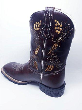BOTA BORDADO TRIGO - Loja Carrero Boots 2832d50599f