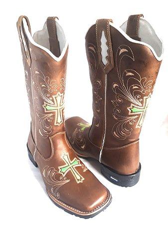 Bota Feminina   Cruz Verde - Loja Carrero Boots df1c3a2b2a1