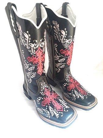 Bota Feminina   Cruz vermelha - Loja Carrero Boots 3d2b5ff3f62