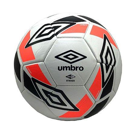 Bola de Futebol Campo Umbro Striker Preto com Laranja