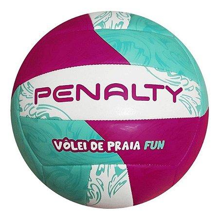 Bola de Vôlei Praia Penalty Fun 21 Verde Claro com Rosa