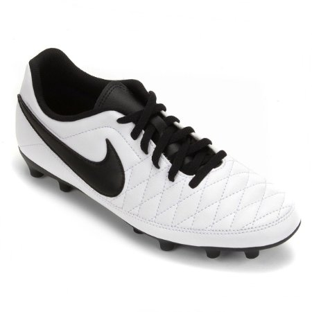Chuteira Nike Campo Majestry - Branco/Preto