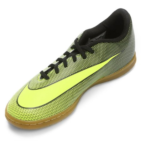 Chuteira Nike Futsal Bravatax 2 Infantil - Verde/Preto