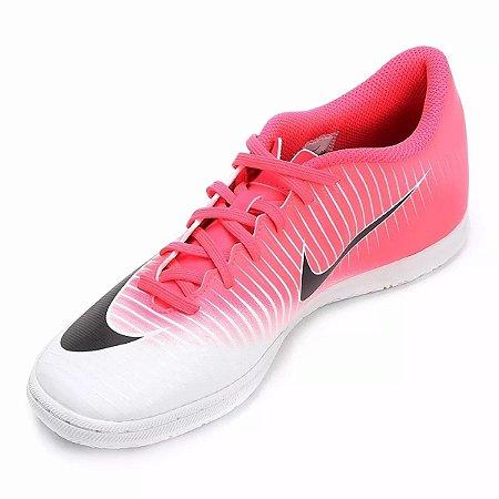 Chuteira Nike Futsal MercurialX Vortex 3 - Rosa/Branco