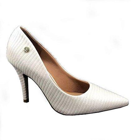 Sapato Feminino Vizzano Maxxi Lezard - Creme