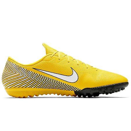 Chuteira Nike Society VaporX 12 Academy NJR - Amarelo/Branco