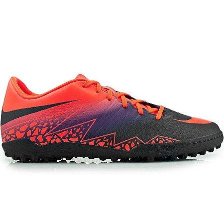 Chuteira Nike Society Hypervenom Phade 2 - Laranja/Roxo
