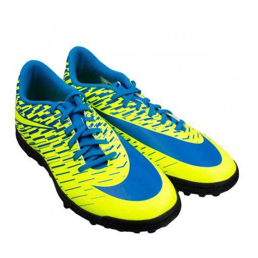 Chuteira Nike Society BravataX 2 - Verde/Azul