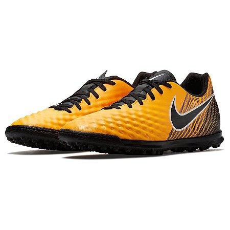 Chuteira Nike Society MagistaX Ola 2 - Laranja/Preto