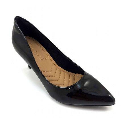 Sapato Bebecê Scarpin Verniz Amarilis Preto