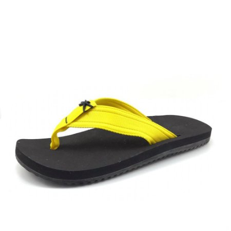 Sandália Kenner Kivah Nk5 Basic Tik-04 Amarela Masculino