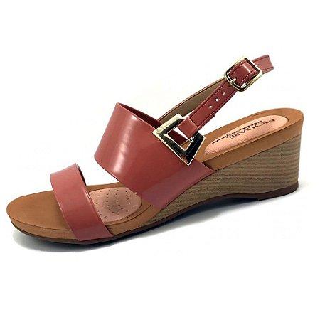 Sandália Modare Tira Larga Verniz Premium Rose Feminina