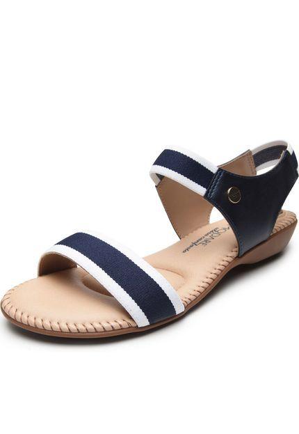 Sandália Modare Elástica Napa Cristalina Azul Feminina