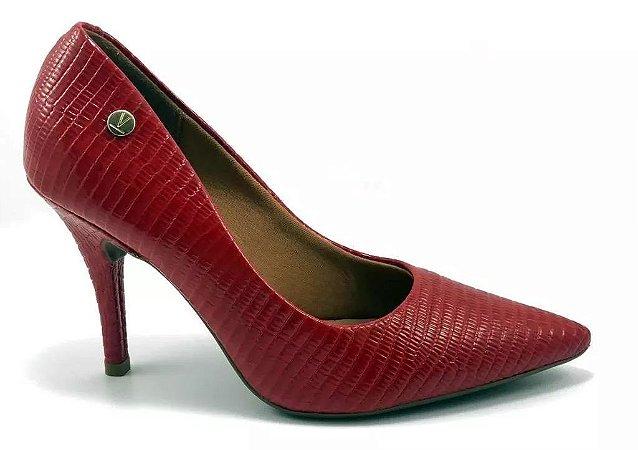 Sapato Scarpin Feminino Vizzano Lezard 1184.101 - Vermelho
