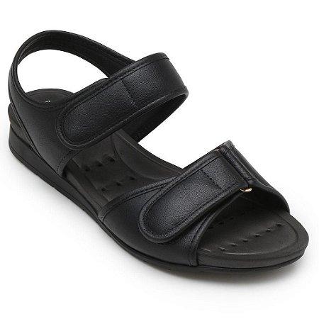Sandália Modare Conforto Napa Cristalina Preto Feminino