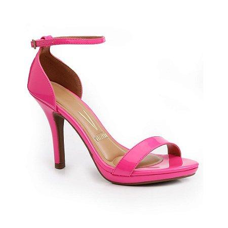 Sandália Vizzano Salto Alto Fino Rosa Pink Feminina