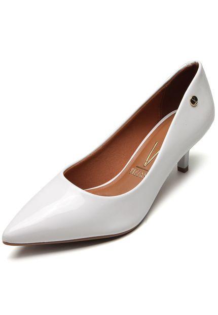 Sapato Vizzano Scarpin Salto Baixo Verniz Premium