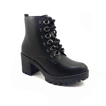 Bota Ramarim Ankle Boot Coturno Bio Plus 20-56102 - Preto