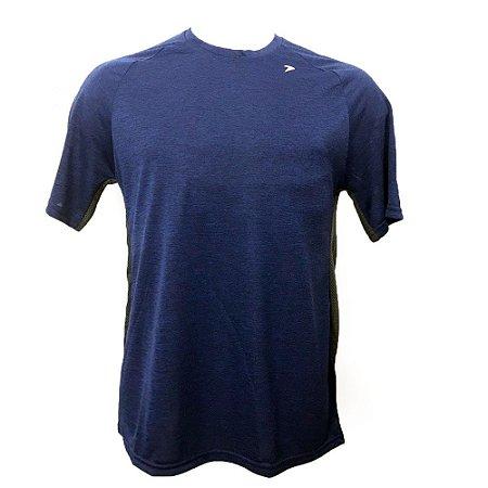 Camiseta Poker Nex Mescla Azul com Chumbo Masculina