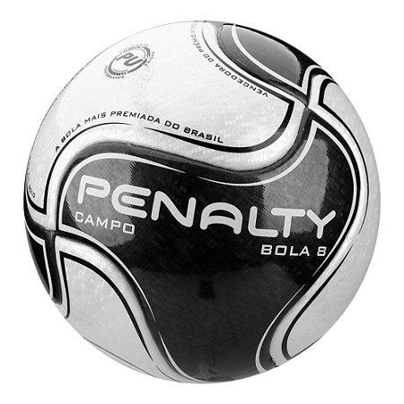 Bola de Futebol Penalty Bola 8 Campo 9 Branca com Preto