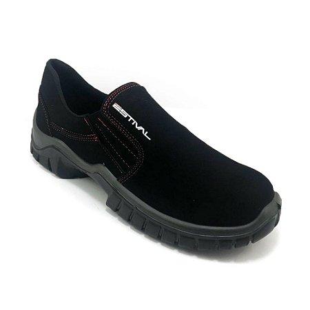 Sapato de Segurança Estival CA Microfibra Preto Masculino