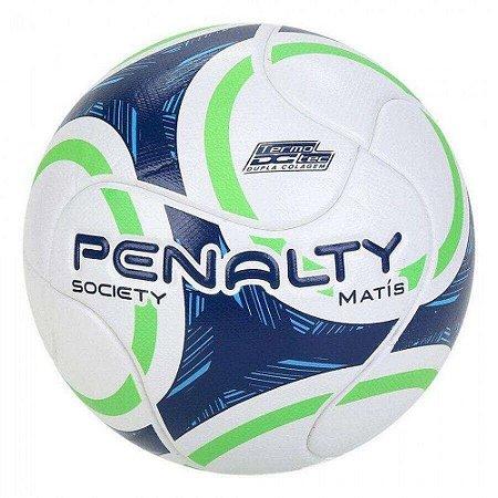 Bola de Futebol Society Penalty Matis 9 Branco com Verde