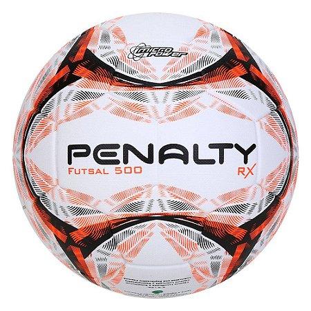 Bola de Futebol Futsal Penalty Rx R1 500 9 Branco e Laranja