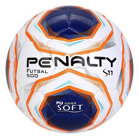 Bola de Futebol Futsal Penalty S11 R2 10 Branco com Azul