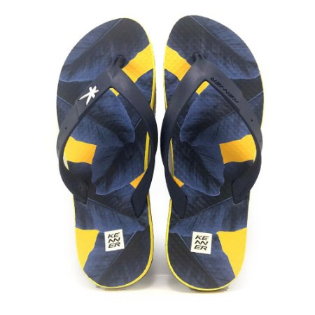 Chinelo Kenner Summer Bananeira Azul com Amarelo Masculino