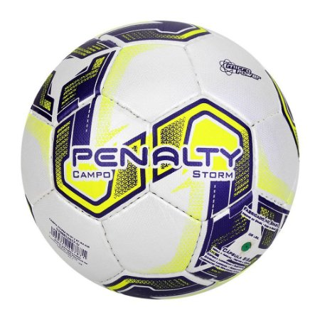Bola de Futebol Campo Penalty Storm Dt X Branca com Amarelo