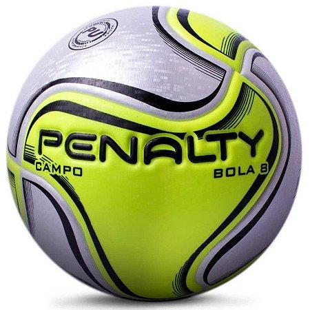 Bola de Futebol Campo Penalty Bola 8 X Branco com Amarelo