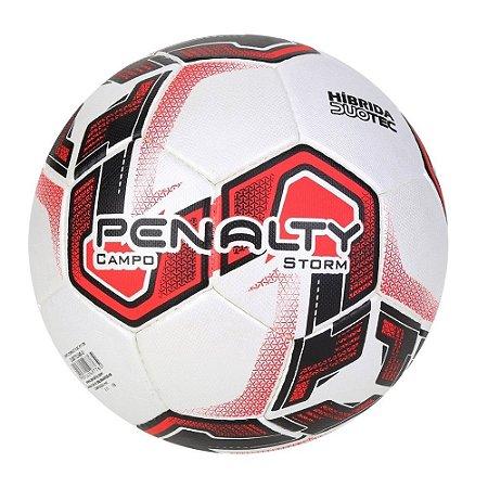 Bola de Futebol Campo Penalty Storm Dt X Vermelho com Preto