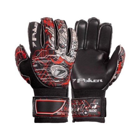 Luva de Goleiro Poker High Tech Semi Pro Multi Terreno Preta