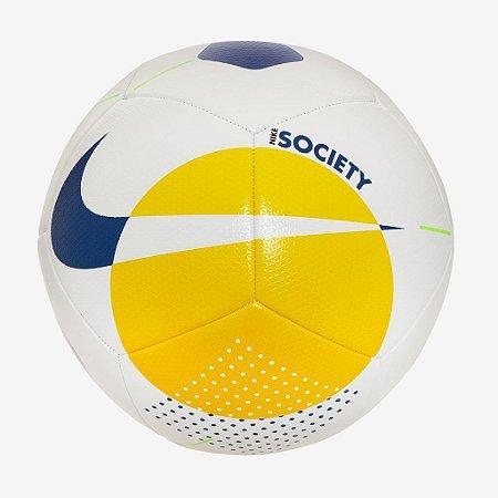Bola de Futebol Society Nike Brasil Cbf Amarela com Azul