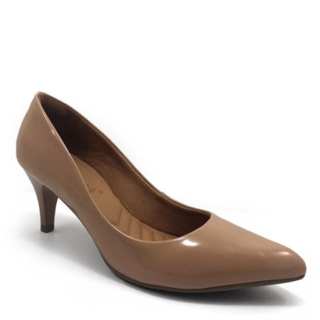 Sapato Scarpin Bebecê Bico Fino Salto Médio Verniz Feminino