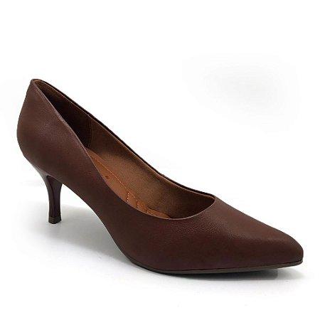 Sapato Scarpin Bebecê Bico Fino Salto Baixo Napa Feminino