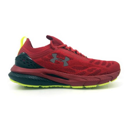 Tênis Under Armour Corrida Charged Bright Vermelho Masculino