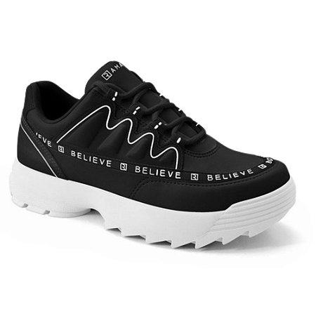 Tênis Ramarim Esportivo Chunky Sneaker Napa Preto
