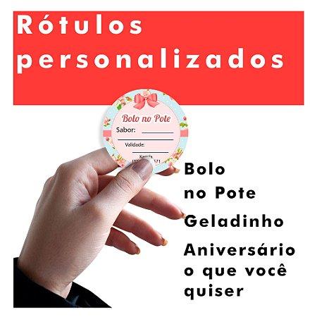 Etiquetas Rótulos Adesivos Personalizadas Promoção Brinde 5X5Cm 1000 Unidades.