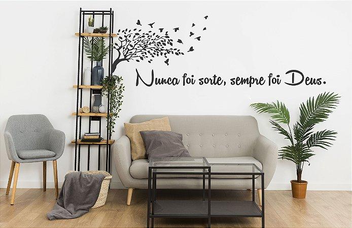 adesivos de parede decorativo arvore frase