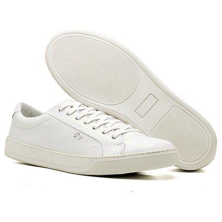 b665f21bd0334 Sapatênis Sanravi em Couro cor Branco - Sanravi Shoes