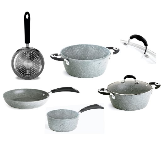 Set Panelas Donatello Petravera Induction Bialetti 8 pçs