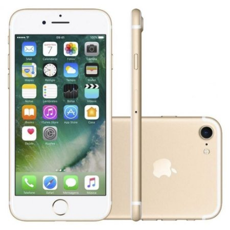 iPhone 7 32GB Tela 4.7'' iOS 10 4G Câmera 12MP - Apple - Dourado